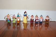 Disney Snow White and The Seven Dwarfs Christmas Ornaments, 8 New Ornaments!