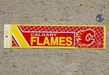 Vintage Original Calgary Flames NHL Hockey Vinyl Bumper Sticker Decal