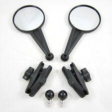 "DoubleTake Mirror Two Enduro 3"" RAM Arm 10mm x 1.25 Ball Mount Pair Set NEW"