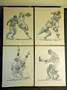 1960 Shell Oil 5 Prints New York Giants Robustelli Patton Huff Conerly Summerall