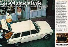 PUBLICITE ADVERTISING 104  1980  PEUGEOT 304 BREAK GLD ( 2p)  pour boulangers