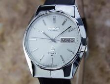 Seiko Type II Quartz 1980s Made in Japan Stainless Steel Mens 35m Watch Y23