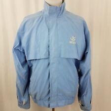 Antigua Mens Jacket Size Large Faux Suede Full Zip Light Blue