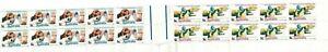 Stamps Australia 1968 Soil Medical pair in gutter strip of 20 inc 2 x sheet Nos