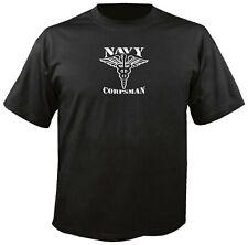 NAVY CORPSMAN CADUCEUS T-SHIRT medic medicine medical staff USMC