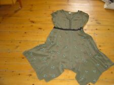 Whistles Size 16 Dress Green Silk
