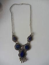 Uscito, vecchi COLLANA __ 800 __ argento con pietre blu (LAPISLAZULI) __ COLLANA __!