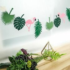 Garden Wedding Decor Event Party Decorate Flamingo Banner Palm Leaves Birthday