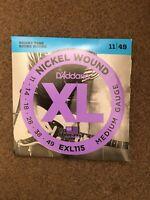 D'ADDARIO EXL115 NICKEL WOUND ELECTRIC  GUITAR  STRINGS .11-49