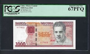 North America 1000 Pesos 2010 P132 Uncirculated Grade 67