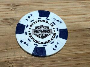Harley Davidson Poker Chip Stafford Texas