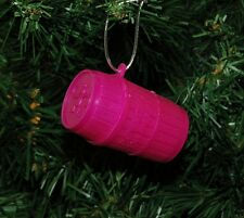 Monkeys In A Pink Barrell Christmas Ornament