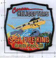 Oregon - Carson Helicopters S61 Fire King - Grants Pass OR Fire Patch