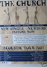 "THE CHURCH ""ACOUSTIC TOUR 2001"" AUSTRALIAN CONCERT POSTER -Aussie New Wave Music"
