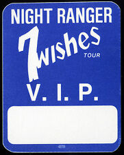 NIGHT RANGER 1985 7 Wishes Concert Tour Backstage Pass!! Authentic Original OTTO
