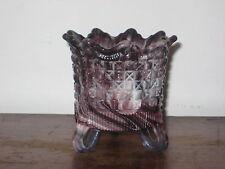 SOWERBY PURPLE MALACHITE SLAG GLASS RAISED VASE