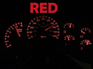 Gauge Cluster LED Dashboard Bulbs Red For Chevy GMC 99 02 Silverado Truck