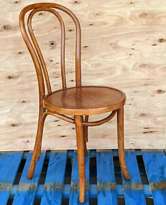 THONET BENTWOOD CAFE CHAIR WOOD SEAT VINTAGE RETRO FRENCH BISTRO BAR RESTAURANT