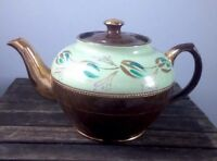 Vintage  Brown And Gold China Teapot