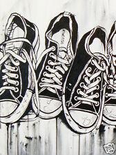 spray shoe by andy baker stencil street art modern pop COA Authentic poster