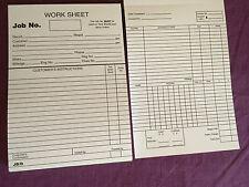 5 X WORKSHOP GARAGE JOB CARDS WORK SHEET REPAIR JOB CARDS WORK SHEET WORK CARDS
