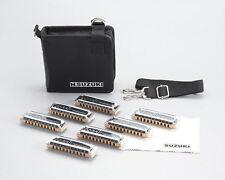 SUZUKI 10 Holes Harmonica Manji M-20 7 Pieces Set (G. A. Bb. C. D. E. F) F/S