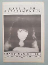 "KATE BUSH EXPERIMENT IV ORIGINAL MAGAZINE PRESS ADVERT SIZE 11"" X 15"" 27/9"