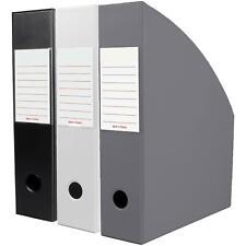 OfficeCentre® Noir Triple Magazine Office Organiser Holder Paper Storage Folder