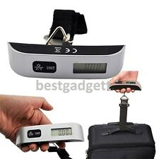 Portable 50kg Hanging Electronic Digital Travel Luggage Suitcase Weighing Scales