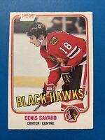 Denis Savard Rookie 1981-82 O-Pee-Chee Hockey Card #63 Chicago Black Hawks