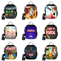 Roblox Insulated Lunch Kids Portable Insulated Lunch Bag Box Picnic Tote Cooler