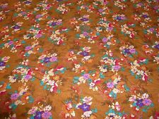STRETCH JERSEY DITSY FLORAL PRINT-CHESTNUT BROWN- DRESS FABRIC -1.5 METRES
