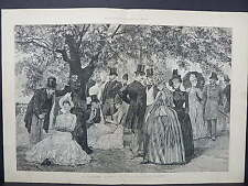 Illustrated London News DoublePage S8#04 Mar 1888 Garden Party Marlborough House