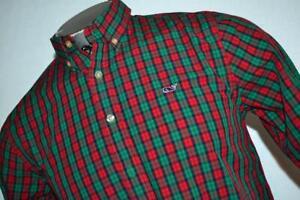 26561-a Boys Vineyard Vines Button Up Dress Shirt Christmas Size XL 18