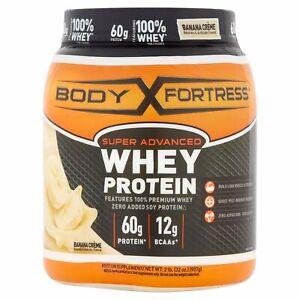 Body Fortress Super Advanced Whey Protein Powder, Banana Creme, 2 LBS