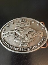 Defender of Firearms 1986 NRA Belt Buckle Institute for Legislative Action
