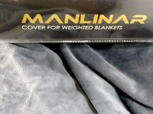 "Soft Grey Velvet Removable Weighted Blanket Cover/Duvet 60""X 80"" Zipper Ties New"