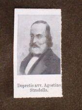 Deputato del 1° Parlamento d'Italia 1861 Avvocato Depretis Agostino di Stradella