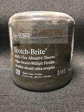 3M-07522 Gray Scotch-Brite Ultra Fine Abrasive Sheets (60 sheets) (3M-7522)