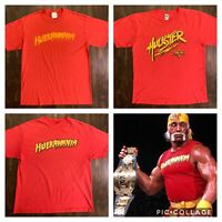 Vintage WWF WCW WWE Hulk Hogan Career REDS T-Shirt Lot X-Large Very Rare Ex Cond