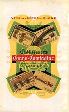 ADVERTISEMENT Vineyard Wine Cotes du Rhone Map Comtadine Chateauneuf du Pape