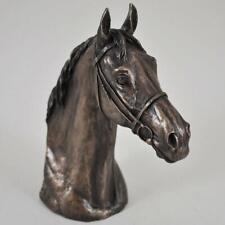 More details for david geenty thoroughbred horse head bronze sculpture