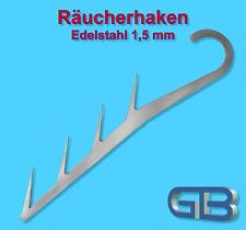 EDESTAHL RÄUCHERHAKEN vierfach 24,5 cm Lang, 1,5 mm, TK-15 KG, Fisch, Fleisch