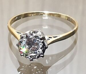 18ct Yellow Gold Diamond J/K 0.4ct Solitaire Ring Size M1/2 Valuation