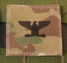 Galons US - COLONEL - grade scratch MULTICAM rank insignia SNAKE PATCH