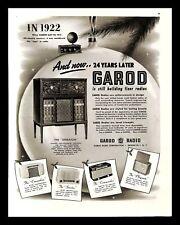 1946 Garod Sheraton Radio Phonograph Vintage PRINT AD Christmas Tree Ornament
