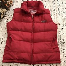 VTG 80s 90s GUESS Down Puffer Vest Mens Size M MEDIUM Zip Red Quilted Jacket Ski