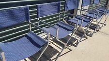 6 Mid-Century Modern Vintage Chrome Milo  Baughman Style Director Arm Chairs