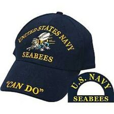 "U.S. Navy USN Seabees Sea Bees ""Can Do"" Blue Embroidered Cap Hat CP00207"