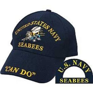 """Seabees U.S. Navy USN Sea Bees """"Can Do"""" Blue Embroidered Cap Hat"""